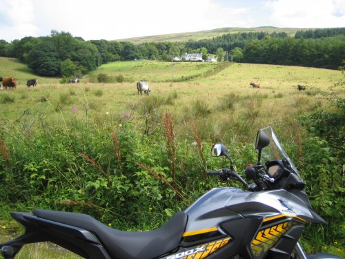 A quick stop looking up towards Baptiston Farm, where we lived when in our late teens.  we had an old CZ175 farm bike to thrash around the farm tracks.